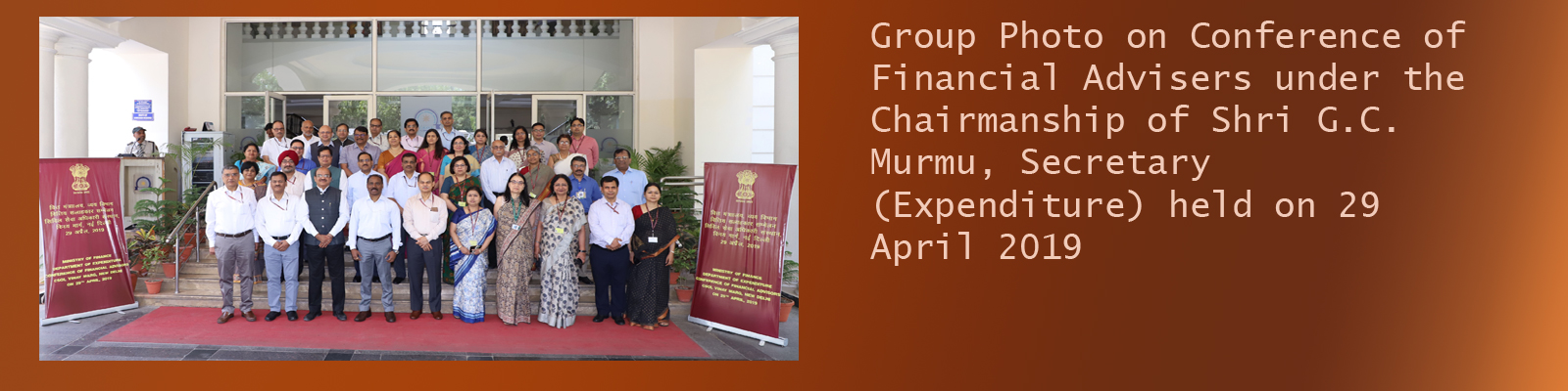 Conference of Financial Advisers under the Chairmanship of Shri G.C. Murmu, Secretary (Expenditure)