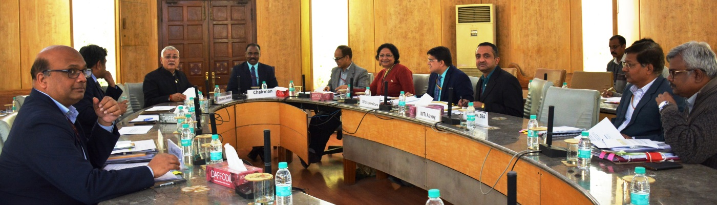 Shri G. C. Murmu, Secretary (Expenditure) chairing a meeting of the committee on Establishment Expenditure (EE)